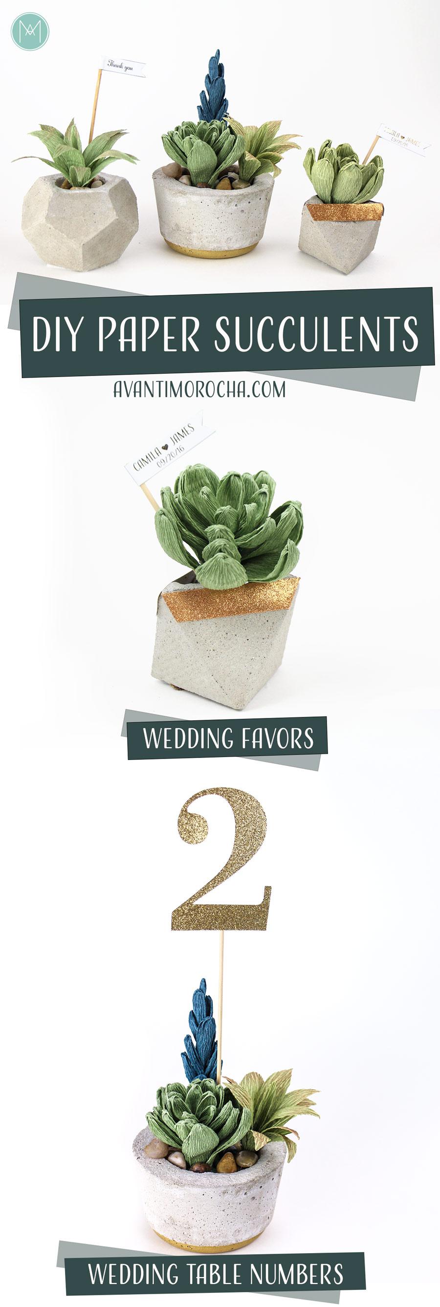 DIY Crepe Paper Succulents