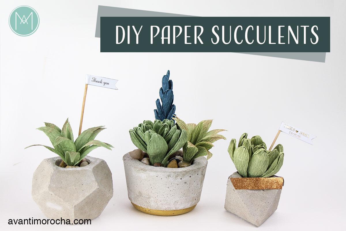 DIY Paper Succulent