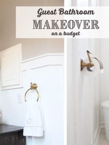 DIY Guest Bathroom Makeover