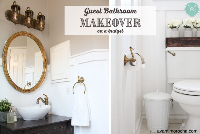 DIY Guest Bathroom Makeover