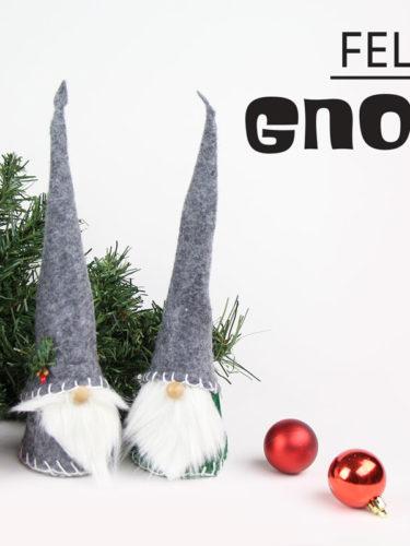 DIY Felted Gnomes | Gnomos de Fieltro