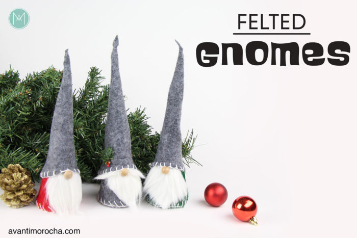 DIY Felted Gnome