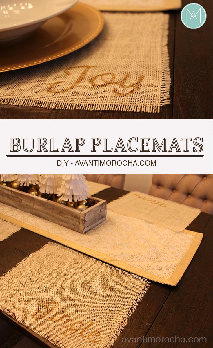 DIY Burlap Placemats