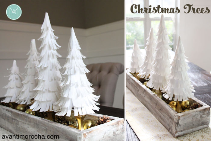 DIY Paper Crepe Christmas Trees