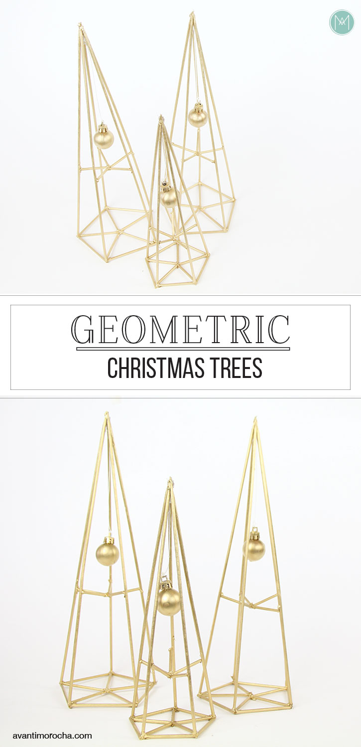 DIY Geometric Christmas Trees