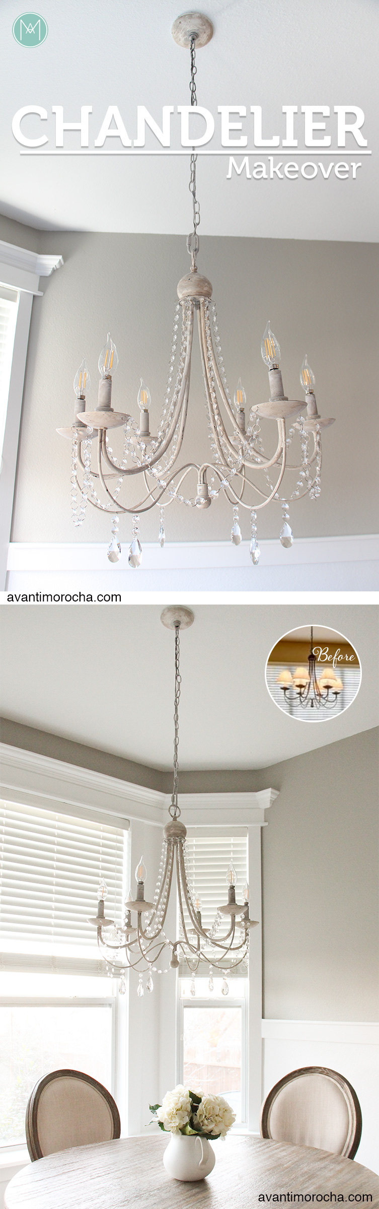 Diy chandelier makeover araa de luces avanti morocha diy chandelier makeover aloadofball Choice Image