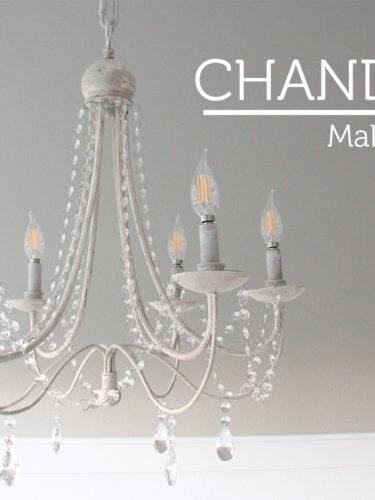 DIY Chandelier Makeover / Araña de luces