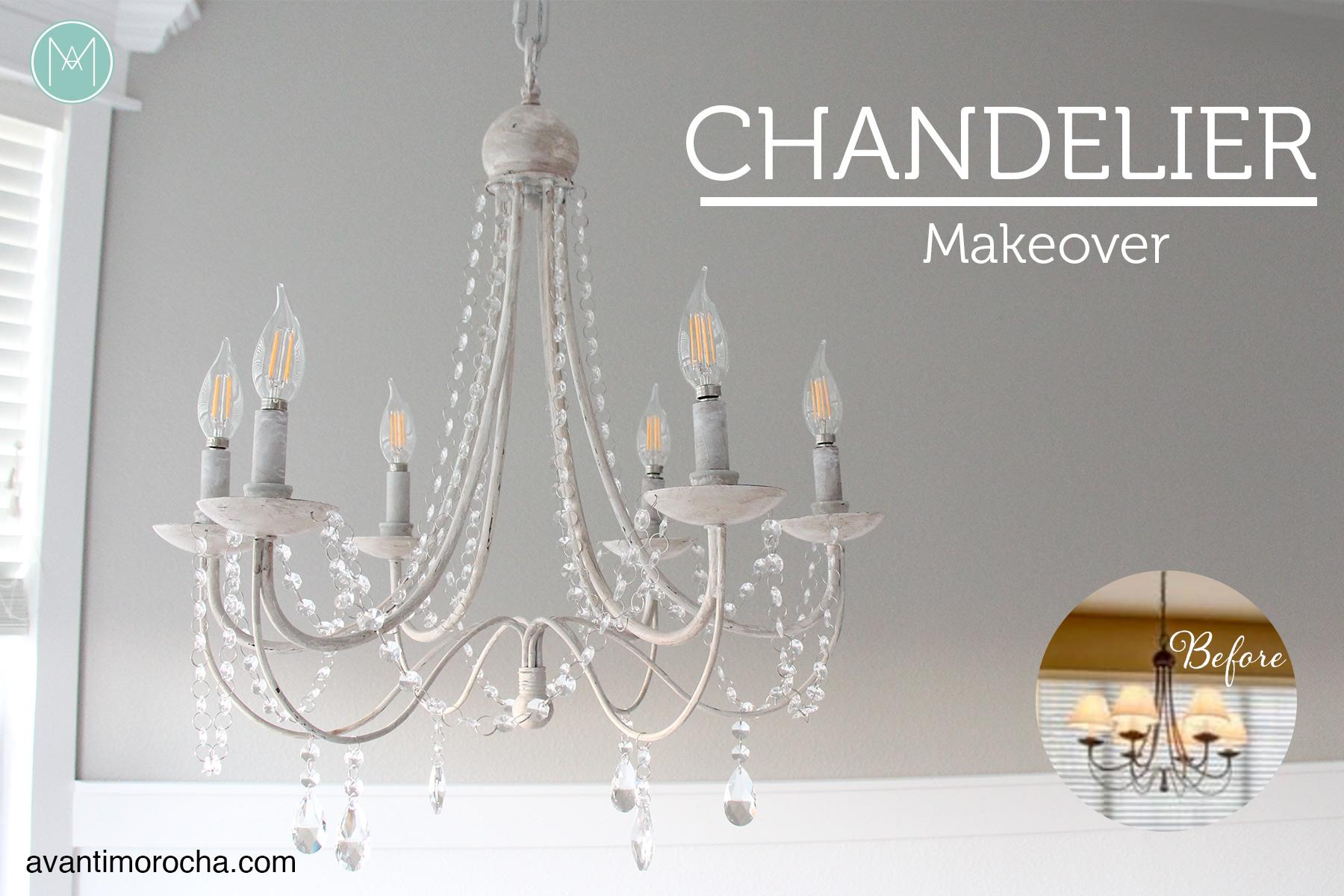 Diy chandelier makeover araa de luces avanti morocha aloadofball Image collections