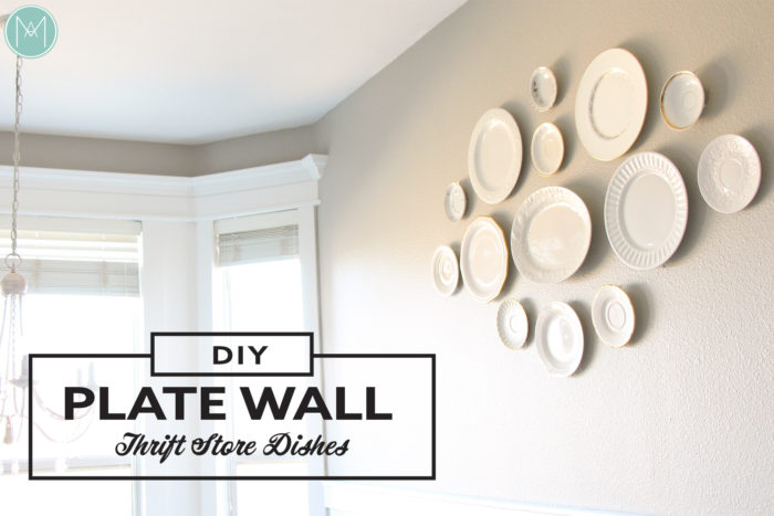DIY plate wall - Thrift store dishes