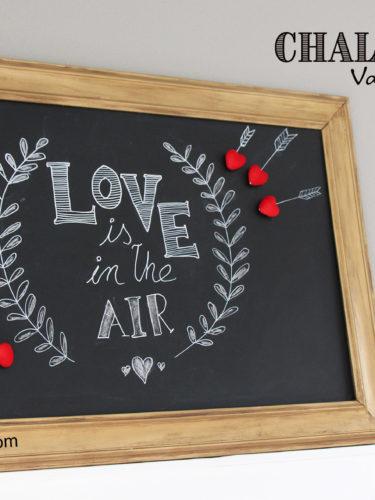 DIY Chalkboard Valentines Day | Pizarron