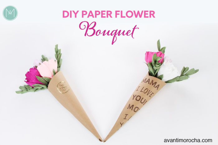 DIY Paper Flower Bouquet / Flower Cones