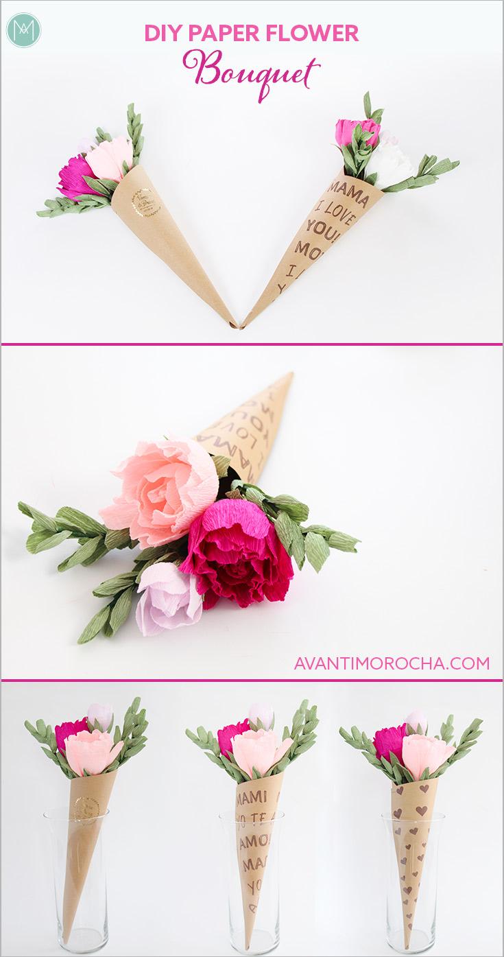 DIY Paper Flower Bouquet / Flower Cones