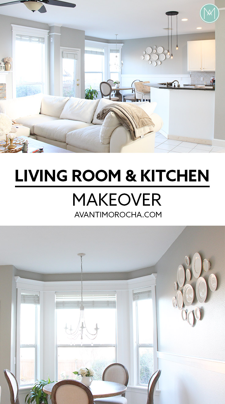Living room & Kitchen Makeover