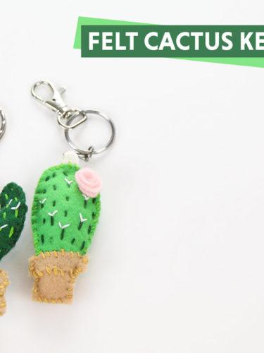 DIY Felt Cactus Keychains