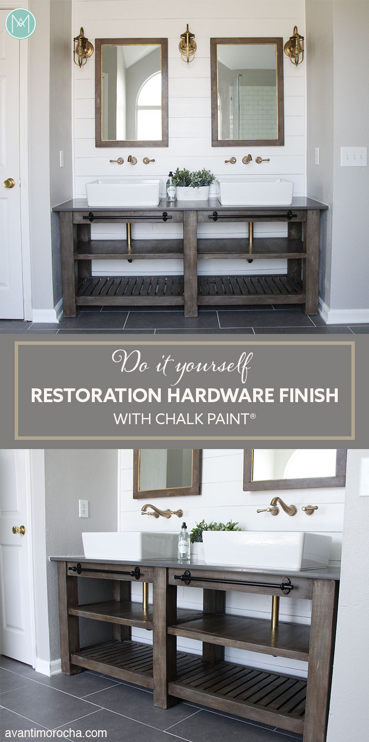 Diy Restoration Hardware Finish With Chalk Paint Avanti Morocha # Muebles Do It Yourself