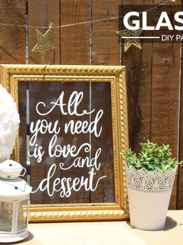DIY Wedding Glass Sign | Señal de Vidrio