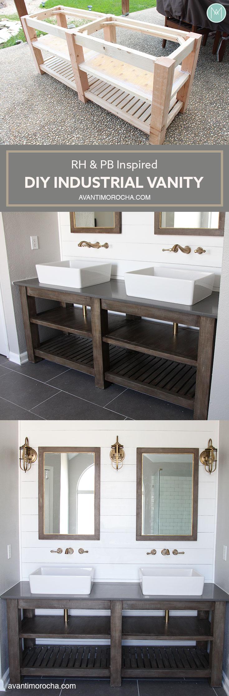 Diy Industrial Bathroom Vanity Avanti Morocha # Muebles Do It Yourself