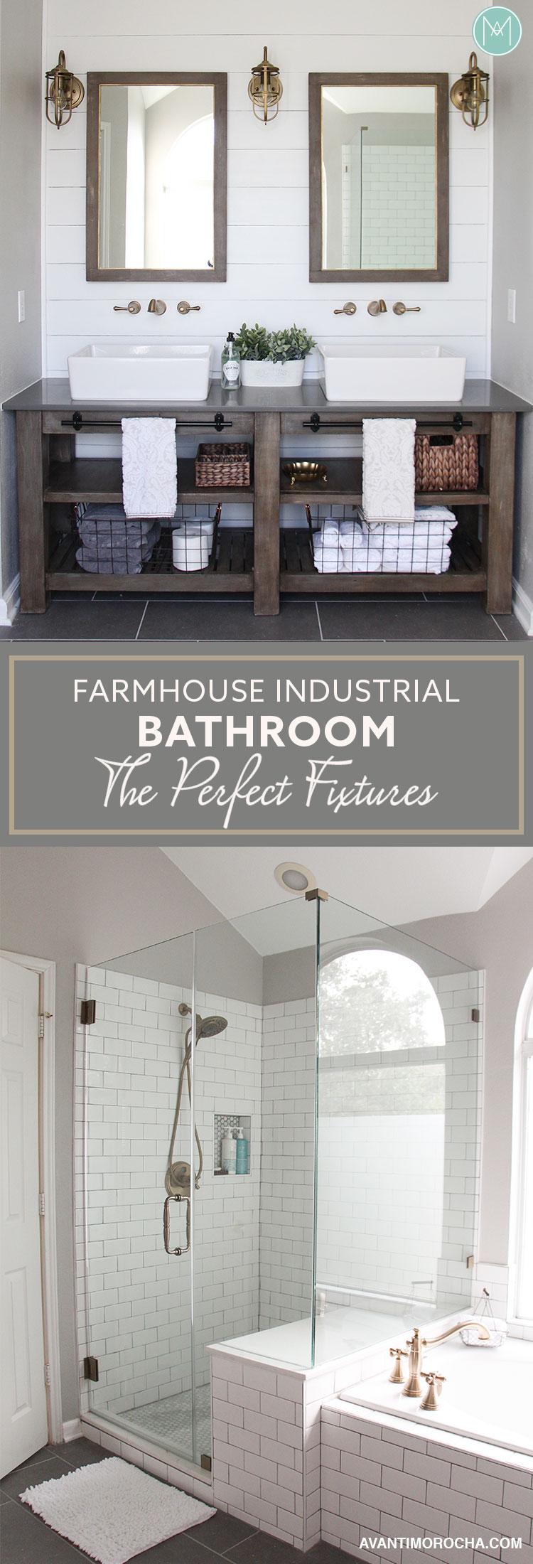 Master Bathroom Que Significa industrial farmhouse bathroom - the perfect fixtures - avanti morocha