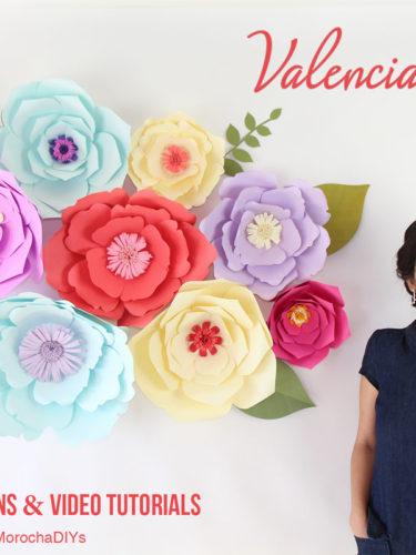 DIY Giant Paper Flower Backdrop Valencia and Sydney | Flores Gigantes de Papel