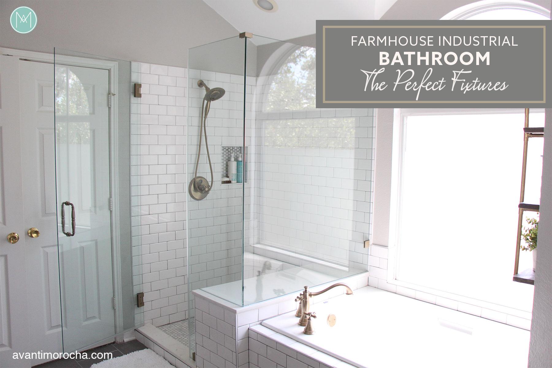 Industrial Farmhouse Bathroom - The Perfect Fixtures - Avanti Morocha