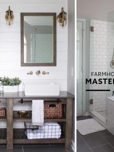 Farmhouse Industrial  Master Bathroom Reveal – Renovación  del Baño