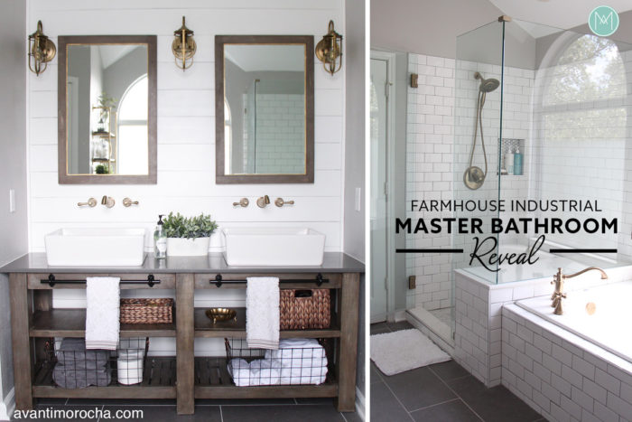 Farmhouse Industrial Master Bathroom Reveal Renovacion Del Bano