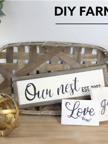 DIY Farmhouse Wood Signs