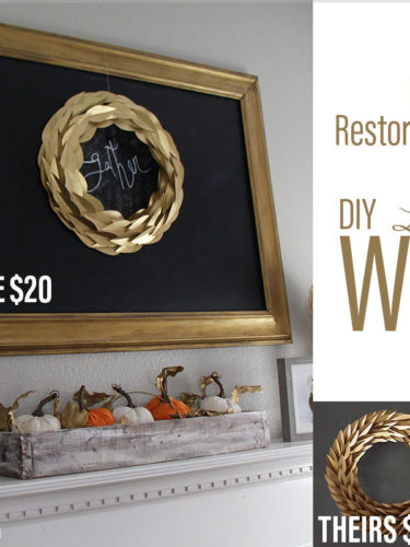 Knock Off Restoration Hardware Laurel Leaf Wreath