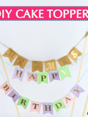 DIY Cake Toppers | Adorno de Pasteles