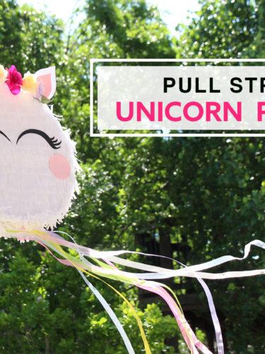 DIY Pull String Unicorn Piñata |  Piñata de Unicornio.