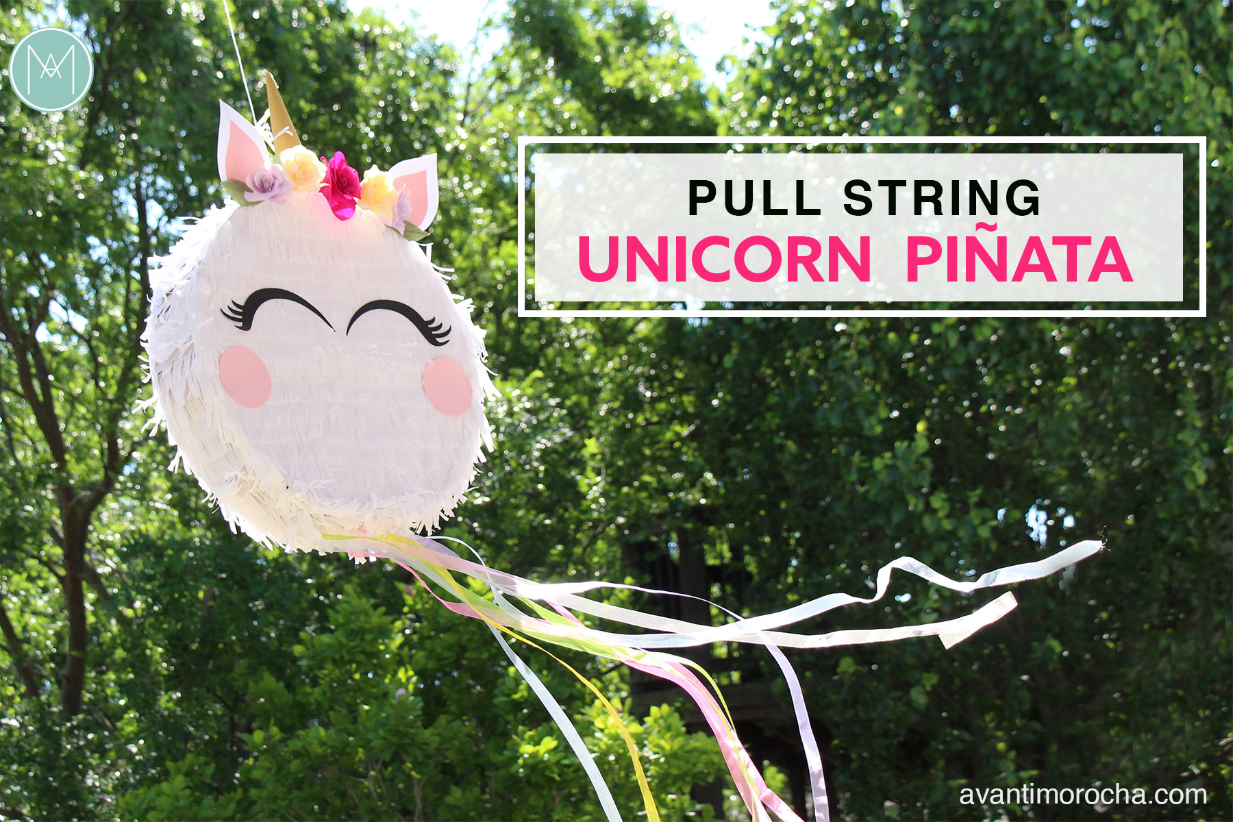 Diy Pull String Unicorn Piñata Piñata De Unicornio