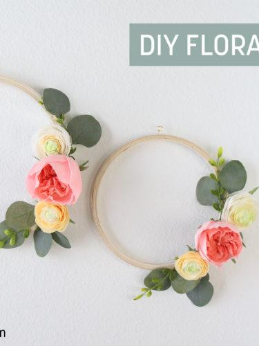 DIY Floral Hoops | Aros Florales