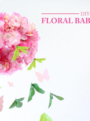 DIY Floral Baby Mobile | Móvil Floral para bebes
