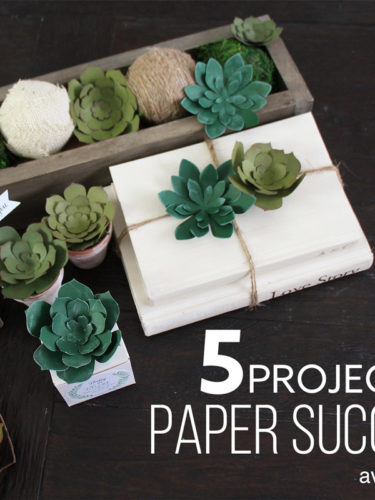 5 Projects with Paper Succulents | 5 proyectos con suculentas de papel