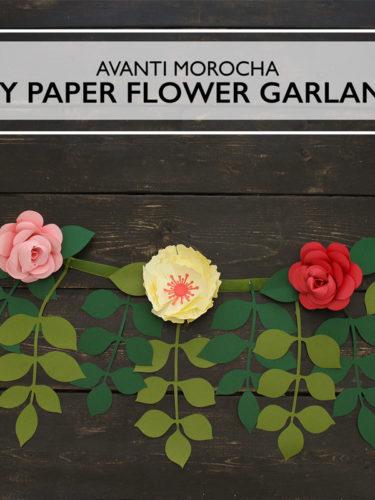 DIY Paper Flower Garland | Guirnalda de Flores de Papel