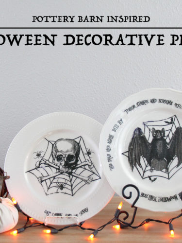 DIY Halloween Decorative Plates – Platos Decorativos de Halloween