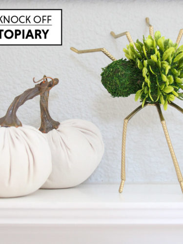 Halloween Decor – Pottery Barn Knock Off Spider Topiary