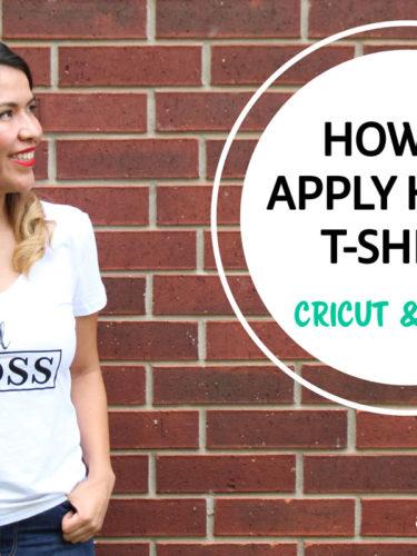 How to Apply HTV (Iron-On) to T-shirts | Como aplicar HTV a playeras