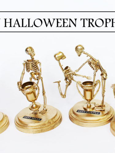 DIY Halloween Trophies