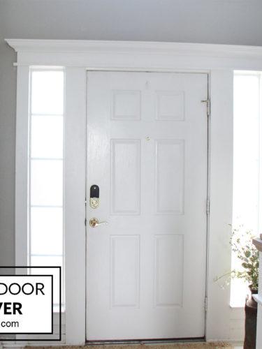 DIY Front Door Makeover – Crown Molding