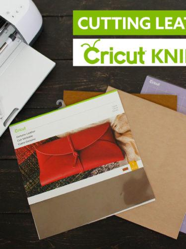 Cutting Leather with Cricut Knife Blade | Cortar Cuero con Cricut