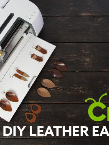 Cricut DIY Leather Earrings