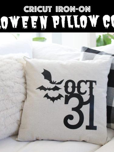 Cricut Iron-On Halloween Pillow