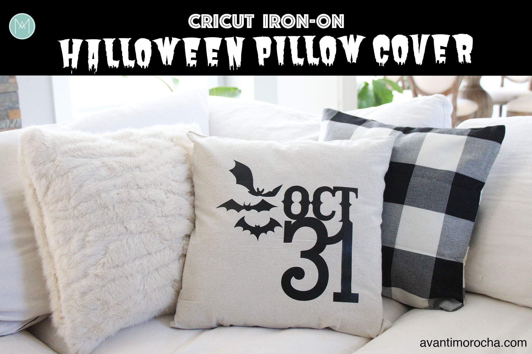 Cricut Iron-On | Halloween Pillow Cover