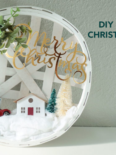 Cricut DIY Farmhouse Christmas Decoration
