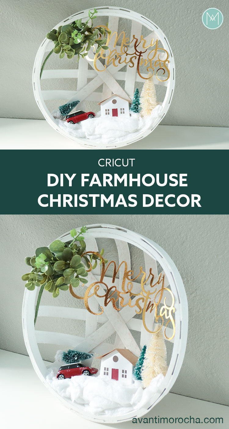 Cricut - DIY Farmhouse Chrismas Decoration