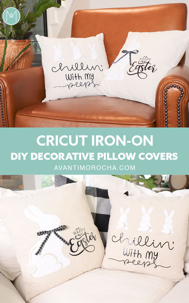 Cricut Iron On Easter Pillow Covers Cojines De Pascua Avanti Morocha