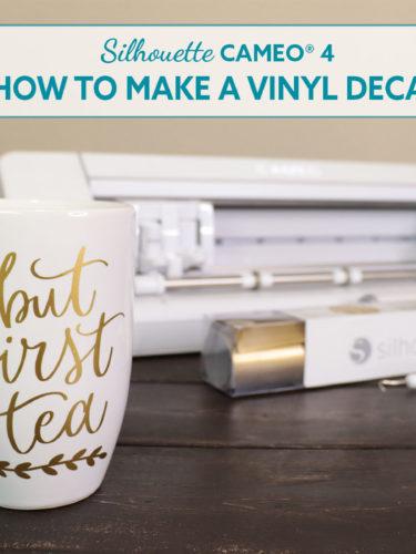 Silhouette Cameo 4 How to Make a Vinyl Decal. Cómo hacer un Decal en Vinil