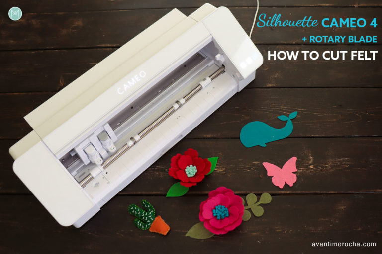 How to cut felt with Silhouette Cameo 4