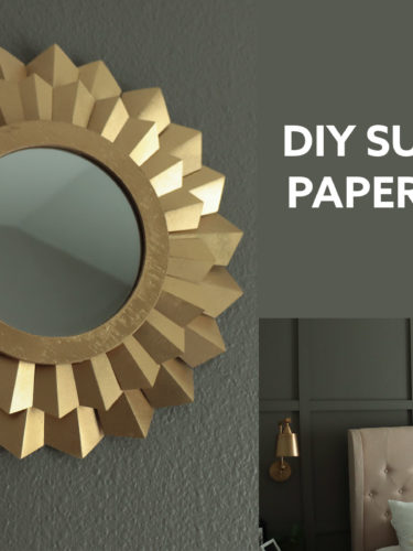 DIY Sunburst Paper Mirror| Espejo Decorativo